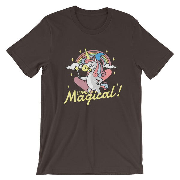 Life is Magical Short-Sleeve Unisex T-Shirt - CalvinMade