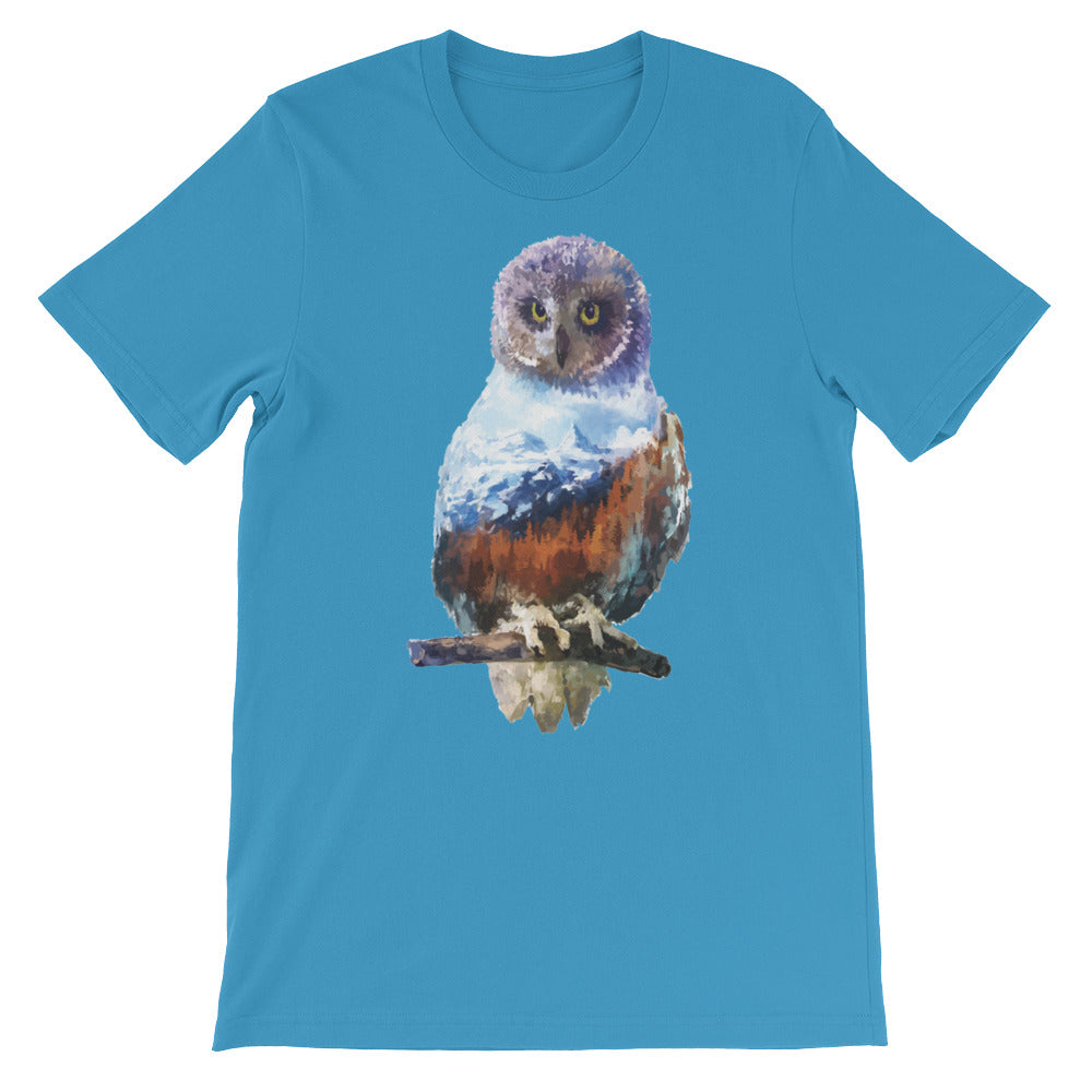 Double Exposed Owl Unisex short sleeve t-shirt - CalvinMade