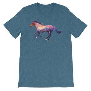 Double Exposed Horse Unisex short sleeve t-shirt - CalvinMade