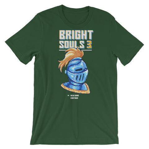 Image of Retro Bright Souls Knight Pixel Art Short-Sleeve Unisex T-Shirt