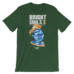 Retro Bright Souls Knight Pixel Art Short-Sleeve Unisex T-Shirt