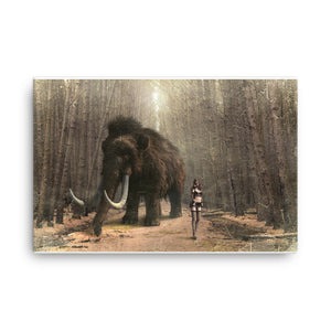 Woolly mammoth Canvas