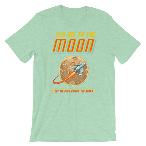 Image of Retro Fly Me to the Moon Short-Sleeve Unisex T-Shirt