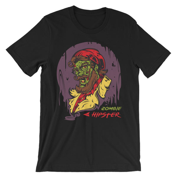 Zombie Hipster Unisex short sleeve t-shirt - CalvinMade