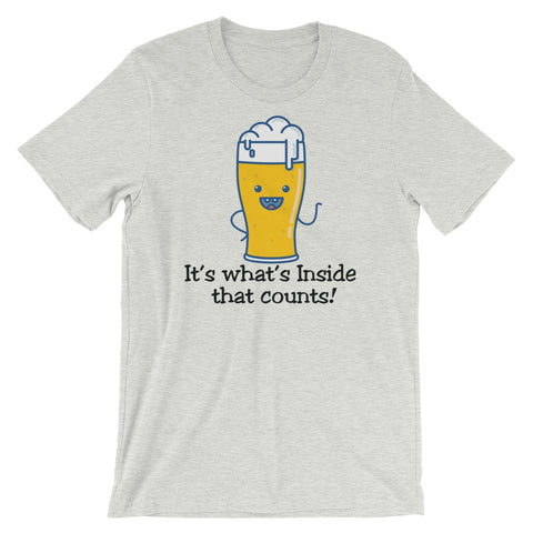 Image of What's inside Unisex short sleeve t-shirt - CalvinMade