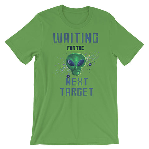 Image of Retro Alien Waiting for the next target Short-Sleeve Unisex T-Shirt