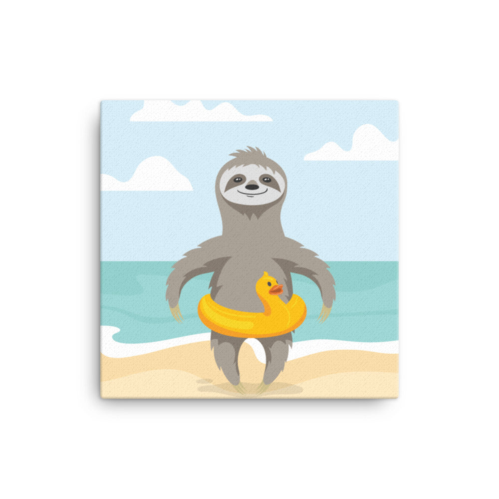 Slothcation Canvas - CalvinMade