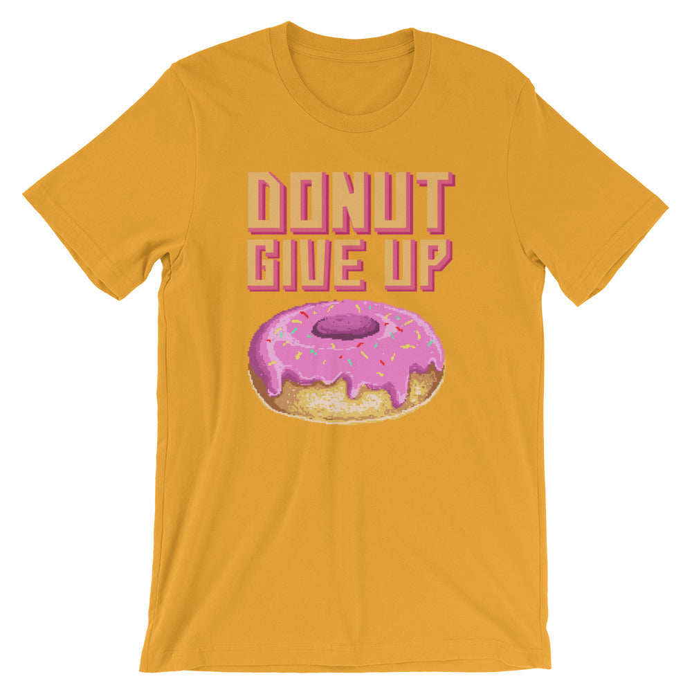 Retro Donut Give up Short-Sleeve Unisex T-Shirt
