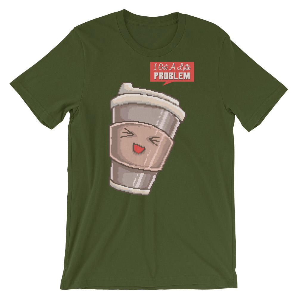 Retro I've Got a Latte Problem Short-Sleeve Unisex T-Shirt