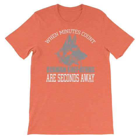 When minutes count Unisex short sleeve t-shirt - CalvinMade