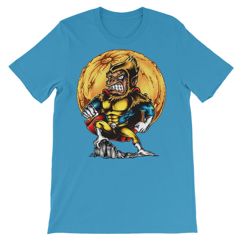 Image of Super Monkey Unisex short sleeve t-shirt - CalvinMade