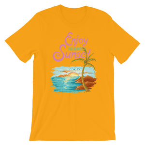 Retro Enjoy the Sunset Short-Sleeve Unisex T-Shirt