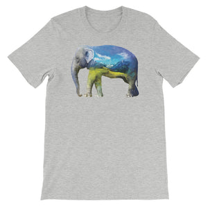 Double Exposed Elephant Unisex short sleeve t-shirt - CalvinMade