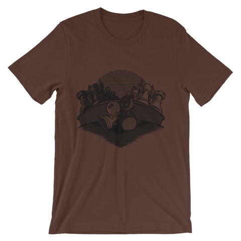 Image of Chess Love Story Short-Sleeve Unisex T-Shirt - CalvinMade