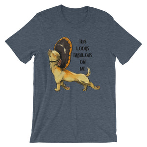 This looks fabulous on me Unisex short sleeve t-shirt - CalvinMade