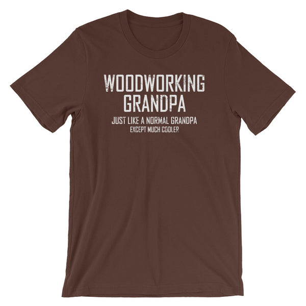 Woodworking Grandpa Unisex short sleeve t-shirt - CalvinMade