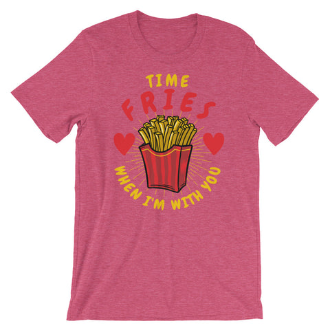 Image of Time Fries when i'm with you Short-Sleeve Unisex T-Shirt - CalvinMade