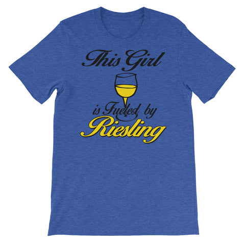 Image of This Girl is fueled by Reisling Unisex short sleeve t-shirt - CalvinMade