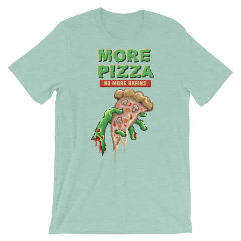 Retro Zombie Pizza : No more brains Short-Sleeve Unisex T-Shirt