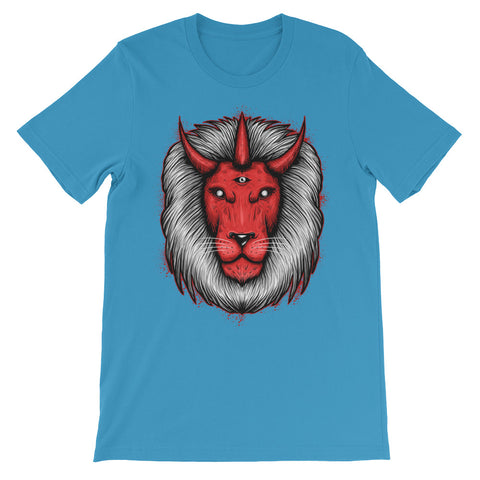 Image of Devil Lion Unisex short sleeve t-shirt - CalvinMade