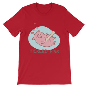 Tickled Pink Unisex short sleeve t-shirt - CalvinMade