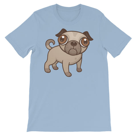 Image of Pug Puppy Unisex short sleeve t-shirt - CalvinMade
