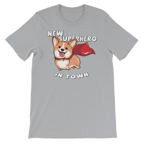 Image of New Super Hero in Town Unisex short sleeve t-shirt - CalvinMade