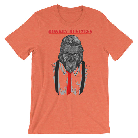 Image of Monkey Business Unisex short sleeve t-shirt - CalvinMade