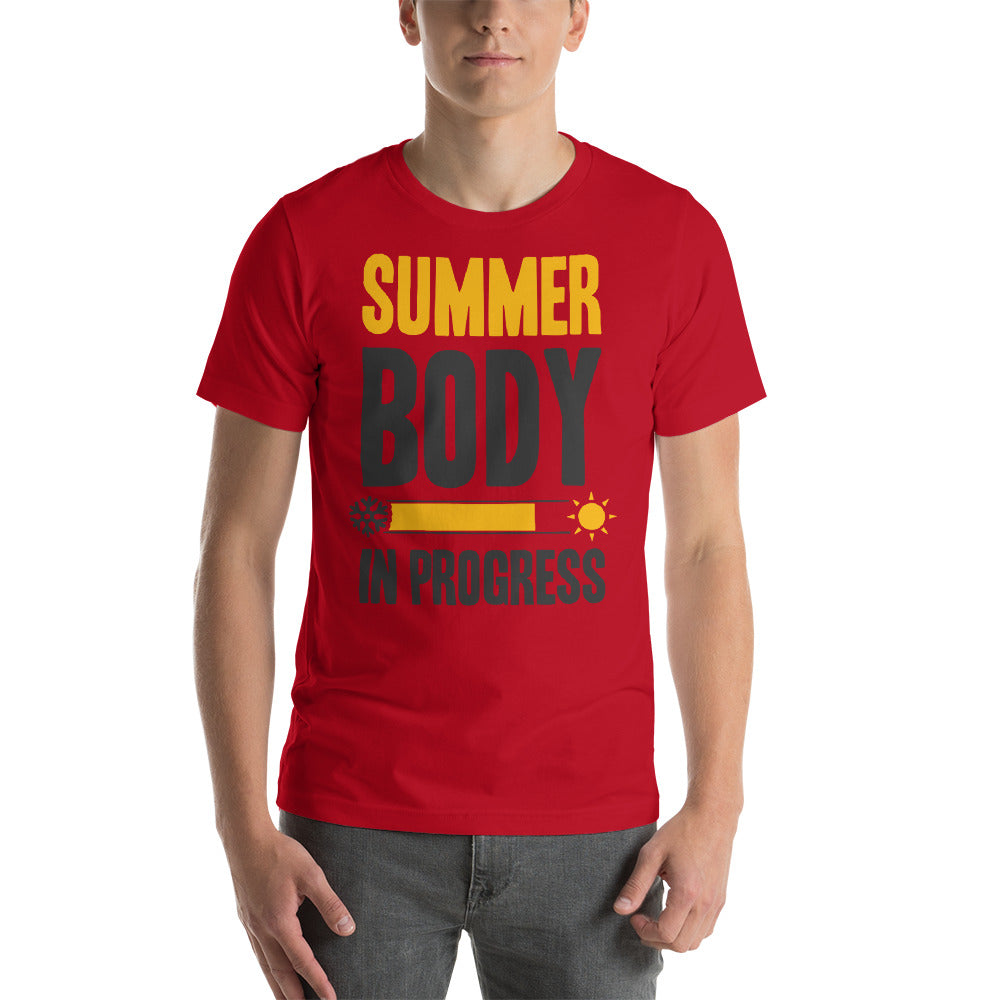Summer Body in Progress Short-Sleeve Unisex T-Shirt - CalvinMade