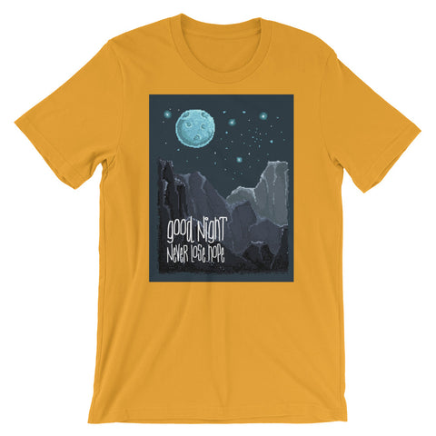 Image of Retro Good Night, Never Lose Hope Short-Sleeve Unisex T-Shirt