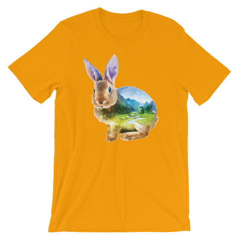 Image of Double Exposed Rabbit Unisex short sleeve t-shirt - CalvinMade
