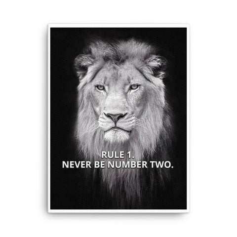 Image of Rule # 1, Never Be #2 Canvas - CalvinMade