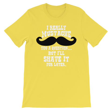 Image of Mustache question Unisex short sleeve t-shirt - CalvinMade