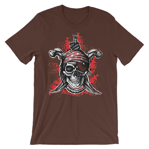Image of Pirate Unisex short sleeve t-shirt - CalvinMade