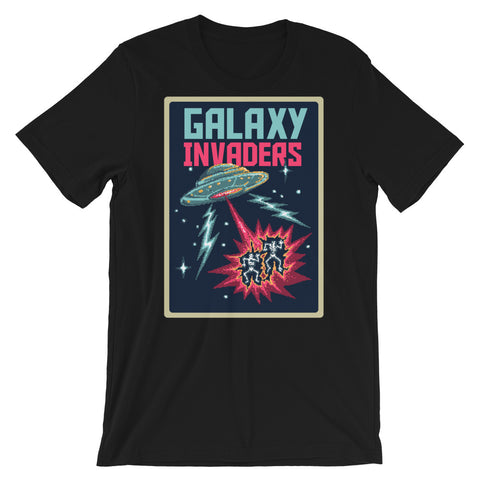 Image of Retro Galaxy Invaders Short-Sleeve Unisex T-Shirt