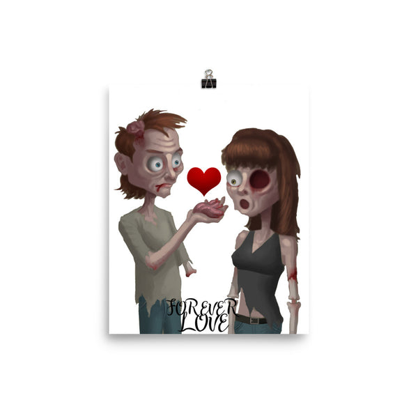 Zombie Love Poster - CalvinMade
