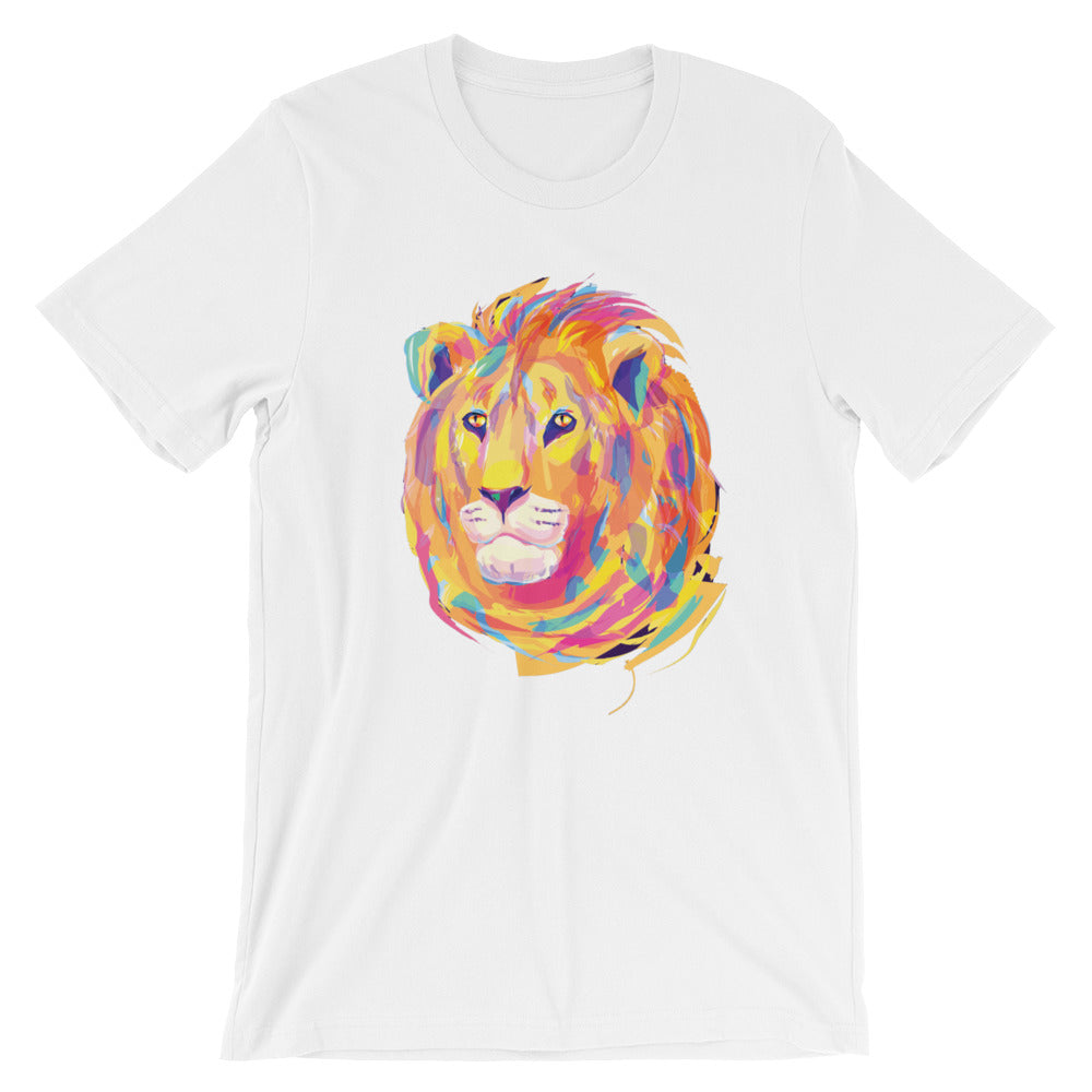 Eclectic Lion Unisex short sleeve t-shirt - CalvinMade