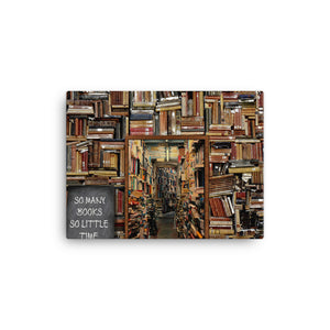 So Many Books Canvas