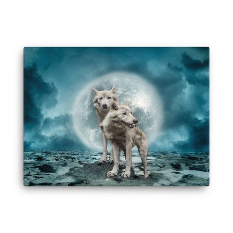 Wolf Moon Canvas