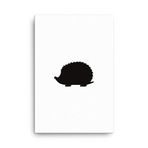 Image of HedgeHog silhouette Canvas - CalvinMade