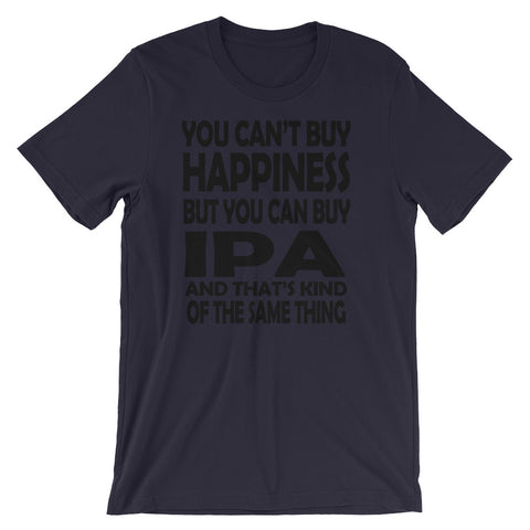 Image of Can't buy Happiness Unisex short sleeve t-shirt - CalvinMade