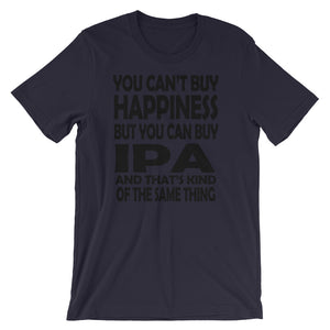 Can't buy Happiness Unisex short sleeve t-shirt - CalvinMade
