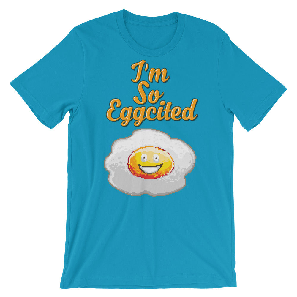 Retro I'm So Eggcited Short-Sleeve Unisex T-Shirt