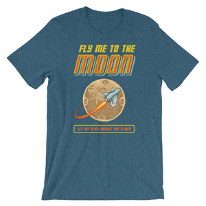 Retro Fly Me to the Moon Short-Sleeve Unisex T-Shirt