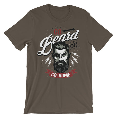 Image of Go Beard or Go Home Unisex short sleeve t-shirt - CalvinMade