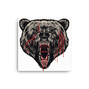 Bear Attack Canvas