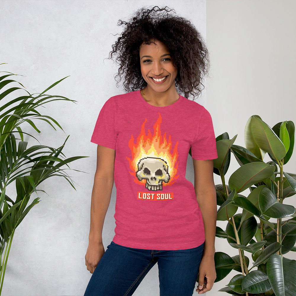 Retro Burning Lost Soul Short-Sleeve Unisex T-Shirt