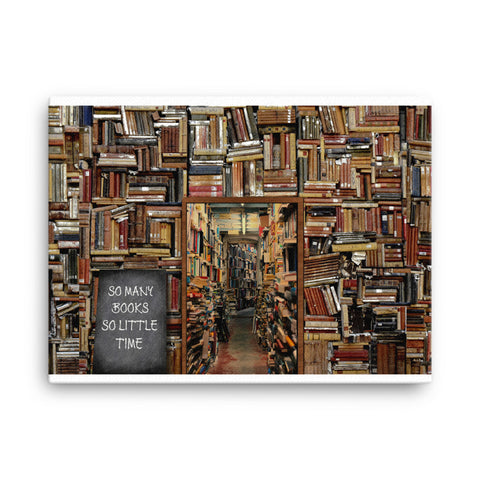 Image of So Many Books Canvas