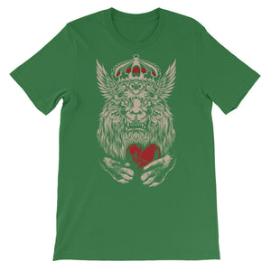 Lion Hearted Unisex short sleeve t-shirt - CalvinMade
