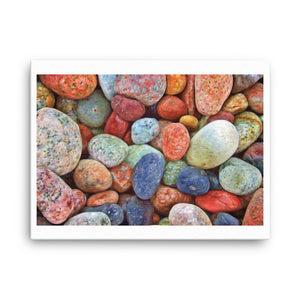 Colored Rocks Canvas